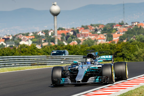 Hungaroring, Budapest, Hungary.  Tuesday 1 August 2017. Valtteri Bottas, Mercedes F1 W08 EQ Power+. World Copyright: Joe Portlock/LAT Images  ref: Digital Image _R3I0165