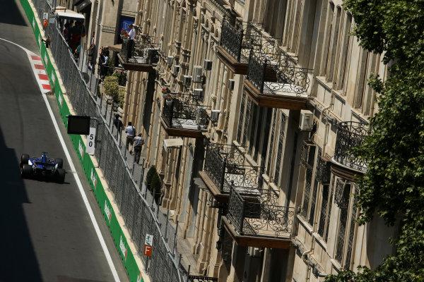 Baku City Circuit, Baku, Azerbaijan. Friday 23 June 2017. Marcus Ericsson, Sauber C36 Ferrari. World Copyright: Charles Coates/LAT Images ref: Digital Image AX0W5582