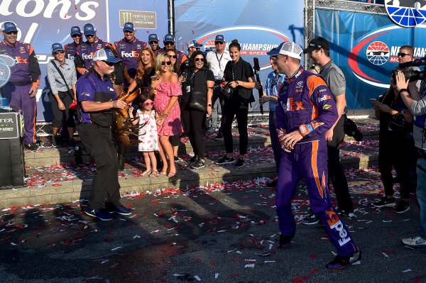 Monster Energy NASCAR Cup Series Overton's 301 New Hampshire Motor Speedway, Loudon, NH USA Sunday 16 July 2017 Denny Hamlin, Joe Gibbs Racing, FedEx Office Toyota Camry wins World Copyright: Rusty Jarrett LAT Images
