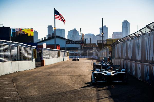 2016/2017 FIA Formula E Championship. Round 10 - New York City ePrix, Brooklyn, New York, USA. Sunday 16 July 2017. Mitch Evans (NZL), Jaguar Racing, Spark-Jaguar, Jaguar I-Type 1. Photo: Sam Bloxham/LAT/Formula E ref: Digital Image _J6I4162