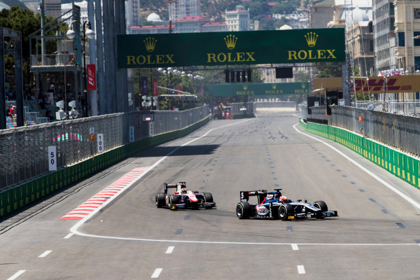 2017 FIA Formula 2 Round 4. Baku City Circuit, Baku, Azerbaijan. Saturday 24 June 2017. Luca Ghiotto (ITA, RUSSIAN TIME)  Photo: Zak Mauger/FIA Formula 2. ref: Digital Image _56I7527