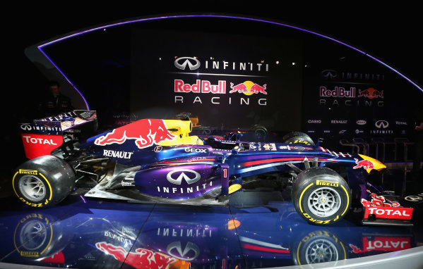 Milton Keynes, UK   The new Infiniti Red Bull Racing RB9 at the Photo: Mark Thompson/Getty Images/Red Bull Racing () ref: Digital Image 160597164_10