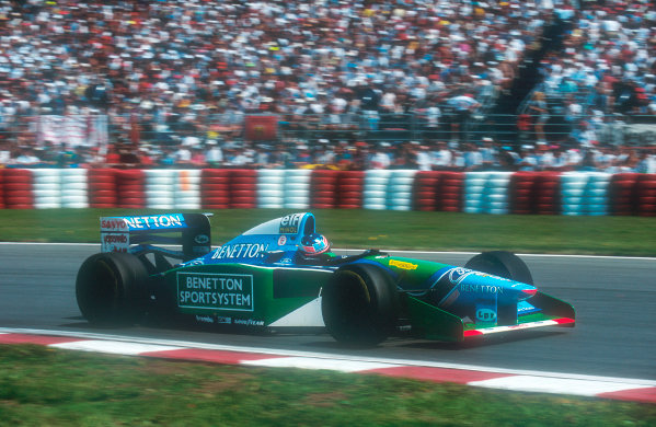 Montreal, Canada.10-12 June 1994.Michael Schumacher (Benetton B194 Ford) 1st position.Ref-94 CAN 06.World Copyright - LAT Photographic
