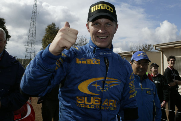 2003 FIA World Rally Champs. Round Ten Telstra Rally Australia 4th-7th September 2003.Petter Solberg, Subaru, PortraitWorld Copyright: McKlein/LAT