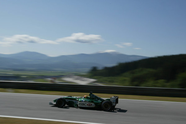 2003 Austrian Grand Prix, Friday Qualifying,A1 Ring, Austria.16th May 2003Antonio Pizzonia, Jaguar R4, action.World Copyright LAT Photographic.Digital Image Only.