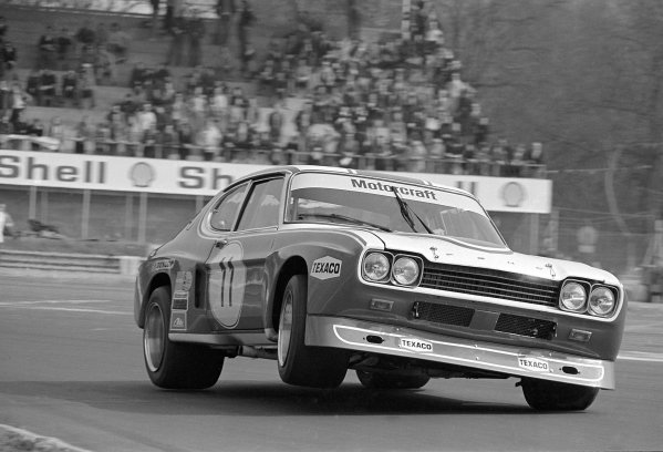 1973 European Touring Car Championship. Monza, Italy. 25 March 1973. John Fitzpatrick/Gerry Birrell, Ford Capri RS2600, retired. World Copyright: LAT Photographic Ref: 5174 - 26.