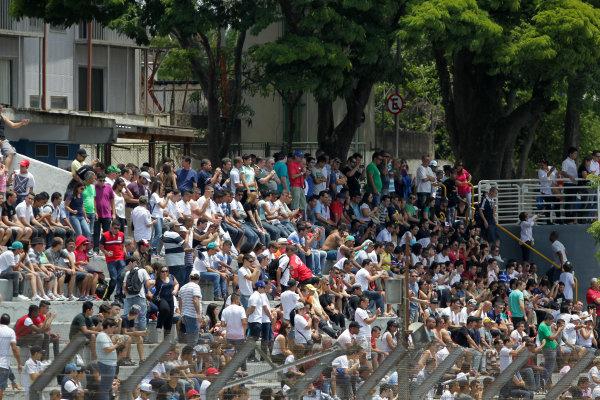 2014 World Endurance Championship, Interlagos, Brazil. 28th - 30th November 2014. Crowds at Interlagos. World Copyright: Ebrey / LAT Photographic.