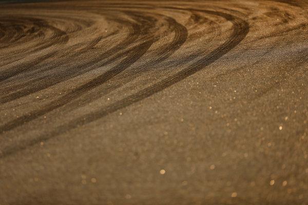 Sepang International Circuit, Sepang, Kuala Lumpur, Malaysia. Thursday 26 March 2015. Tyre marks on track. World Copyright: Alastair Staley/LAT Photographic. ref: Digital Image _79P0918
