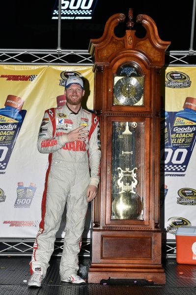 24-26 October, 2014, Martinsville, Virginia USA Dale Earnhardt Jr celebrates his win in Victory Lane ? 2014, Nigel Kinrade LAT Photo USA