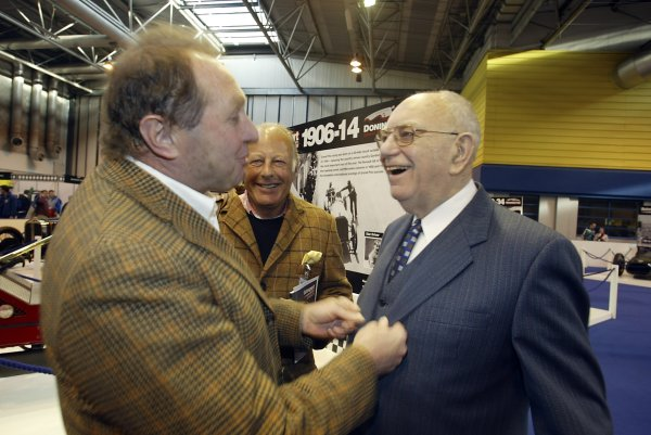 2006 Autosport International ExhibitionBirmingham NEC, Thursday 12th January 2006.Jochen Mass shares a joke with Tom Wheatcroft. Portrait.World Copyright: Malcolm Griffiths/LAT Photographicref: Digital Image Only