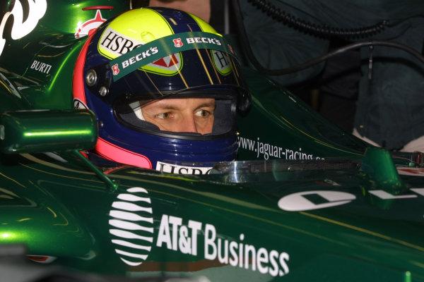 Silverstone, England. 10th January 2001Luciano Burti, Jaguar R2World Copyright - Jennings/LAT Photographicref: 9mb digital