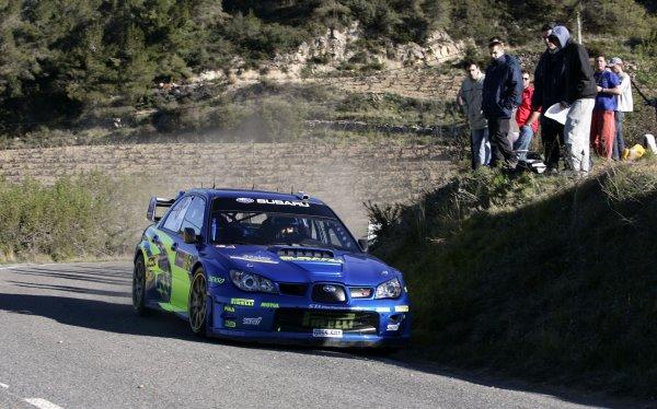 2006 FIA World Rally Champs. Round four Rally Catalunya Spain. 24-26th March 2006Stephan Sarrazin, Subaru, action.World Copywright: Mcklein/LAT