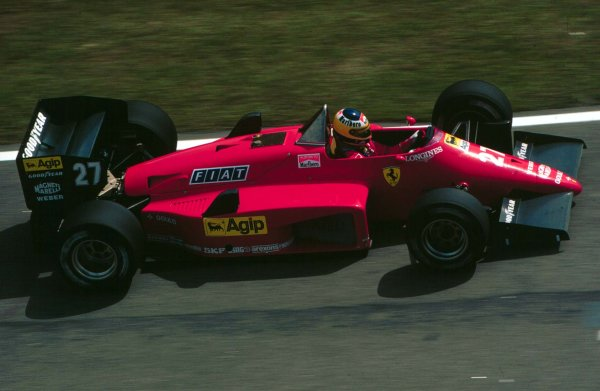 1985 Brazilian Grand Prix.Jacarepagua, Rio de Janeiro, Brazil.5-7 April 1985.Michele Alboreto (Ferrari 156/85) 2nd position.World Copyright - LAT Photographic