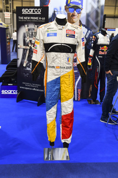 A special editon signed McLaren race suit of Fernando Alonso