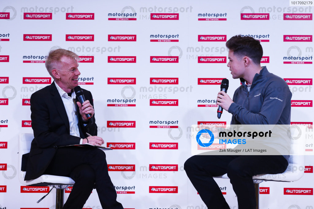 Alan Hyde talks to Michael O'Brien on the Autosport Stage.