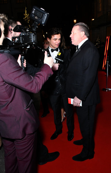Zak Brown, Executive Director, McLaren, is interviewed on the red carpet