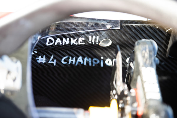 A tribute to Nyck De Vries (NLD, ART GRAND PRIX) inside the cockpit of his car