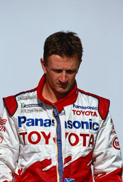 2002 San Marino Grand Prix.Imola, Italy.12-14 April 2002.Allan McNish (Toyota).Ref-02 SM 09.World Copyright - LAT Photographic