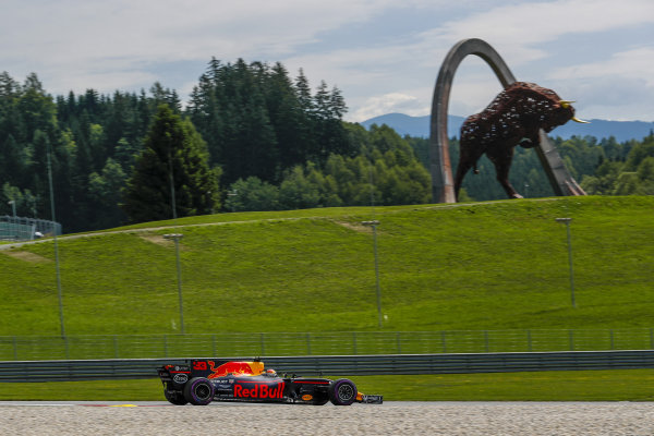 Max Verstappen (NED) Red Bull Racing RB13 at Formula One World Championship, Rd9, Austrian Grand Prix, Qualifying, Spielberg, Austria, Saturday 8 July 2017.