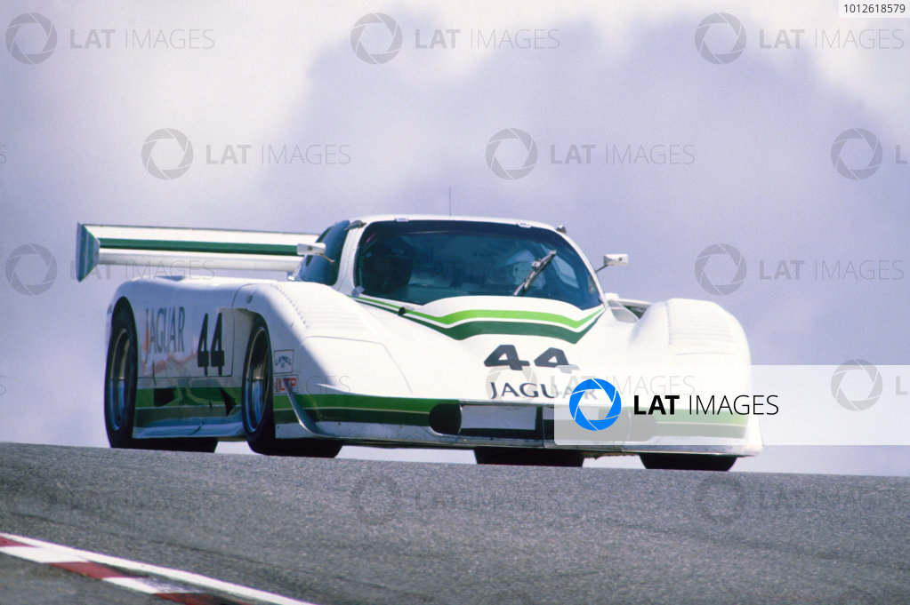 Laguna Seca, California, USA. 3rd May 1987. RD 6.Hurley Haywood / John Morton (Jaguar XJR-7), 4th position, action.World Copyright: LAT Photographic.