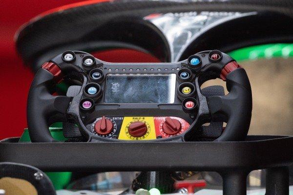 Steering wheel of Daniel Abt (DEU), Audi Sport ABT Schaeffler, Audi e-tron FE06