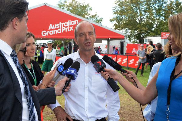 Andrew Westacott (AUS) Australian GP CEO at Formula One World Championship, Rd1, Australian Grand Prix, Preparations, Albert Park, Melbourne, Australia, Thursday 23 March 2017.