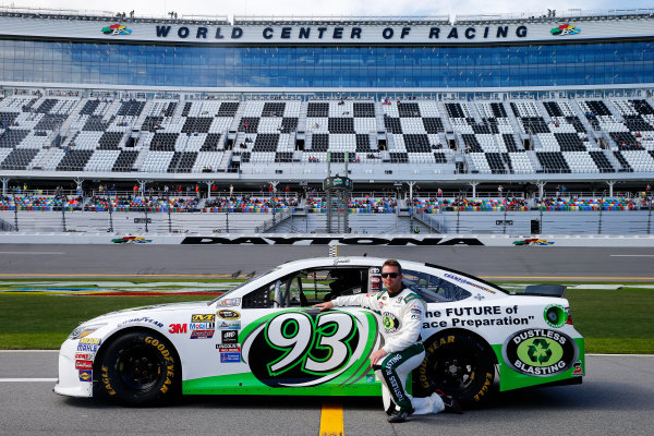 13-21 February, 2016, Daytona Beach, Florida USA   Matt DiBenedetto, driver of the #93 Dustless Blasting Toyota, poses with his car after qualifying for the NASCAR Sprint Cup Series Daytona 500 at Daytona International Speedway on February 14, 2016 in Daytona Beach, Florida.   LAT Photo USA via NASCAR via Getty Images