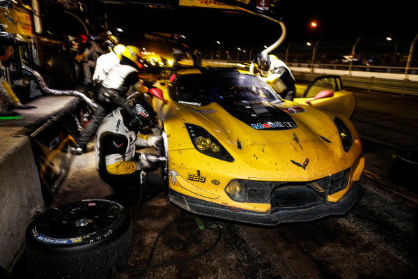 16-19 March, 2016, Sebring, Florida, USA , 4, Chevrolet, Corvette C7, GTLM, Oliver Gavin, Tommy Milner, Marcel Fassler, pit stop, priority ?2016, Michael L. Levitt LAT Photo USA