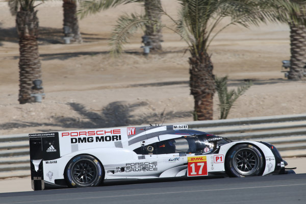 2015 FIA World Endurance Championship,  Rookie Driver Test, Bahrain BIC, 22nd November 2015, Juan Pablo Montoya / Micth Evans Porsche Team Porsche 919 Hybrid World copyright. Jakob Ebrey/LAT Photograhic