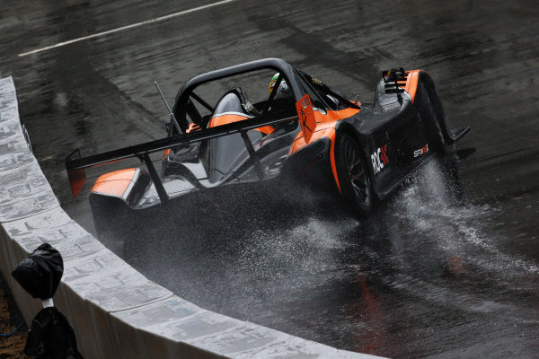 2015 Race Of Champions Olympic Stadium, London, UK Thursday 19 November 2015 Andy Priaulx (GBR) goes sideways in the Radical SR3 RSX in Practice Copyright Free FOR EDITORIAL USE ONLY. Mandatory Credit: 'Race Of Champions'