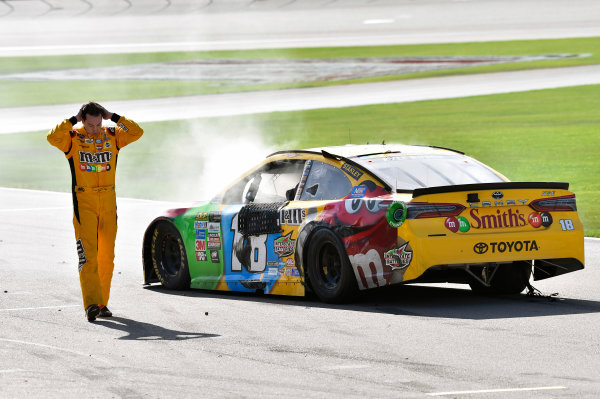 2017 Monster Energy NASCAR Cup Series - Kobalt 400 Las Vegas Motor Speedway - Las Vegas, NV USA Sunday 12 March 2017 Kyle Busch, M&M's Toyota Camry wrecked car World Copyright: Nigel Kinrade/LAT Images ref: Digital Image 17LAS1nk07734