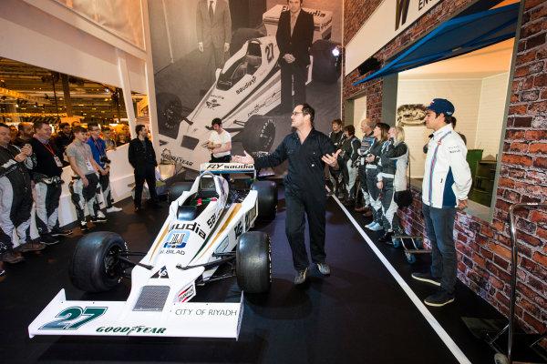 Autosport International Exhibition. National Exhibition Centre, Birmingham, UK. Saturday 14 January 2017. Lance Stroll (Williams F1), at the Williams Experience Photo: Sam Bloxham/LAT Photographic ref: Digital Image _SLB4925