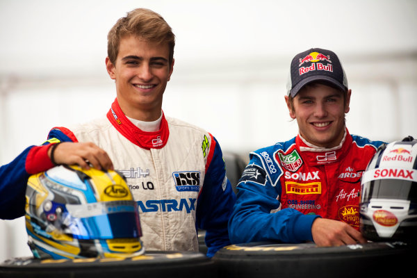 Round 5. Nurburgring, Germany. 21st July 2011.Thursday Preview. Nico Muller, (SUI, Jenzer Motorsport) and Lewis Williamson, (GBR, MW Arden), winners of races 7 and 8 at round 4 in Silverstone. Portrait. Photo: Drew Gibson/GP3 Media Service.  ref: Digital Image _Y2Z3718