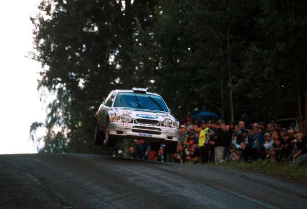 Harri Rovanpera during leg 2 of the Neste Rally of Finland 2000.Photo:McKlein/LAT