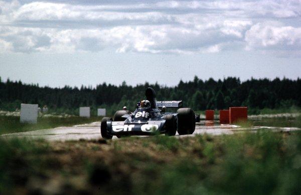 1973 Swedish Grand Prix.  Anderstorp, Sweden. 15-17 June 1973.  Francois Cevert (Tyrrell 006 Ford) 2nd position.  Ref: 73SWE28. World Copyright - LAT Photographic