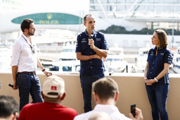 Claire Williams, Deputy Team Principal, Williams Racing, announces Robert Kubica, Williams Racing, for 2019