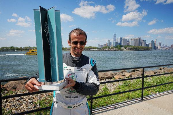 Race winner Bandar Alesayi (SAU), Saudi Racing with his trophy