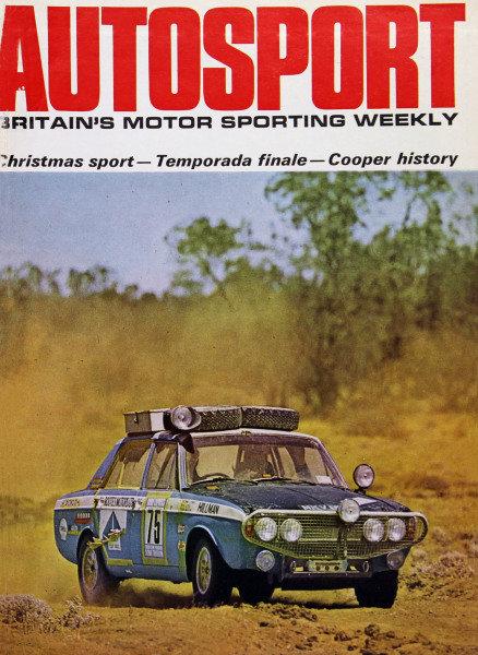Cover of Autosport magazine, 3rd January 1969