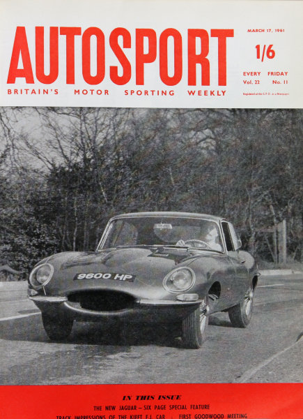 Cover of Autosport magazine, 17th March 1961