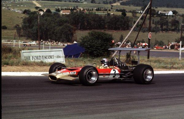 1969 South African Grand Prix.Kyalami, South Africa.27/2-1/3 1969.Mario Andretti (Lotus 49B Ford).Ref-69 SA 88.World Copyright - LAT Photographic