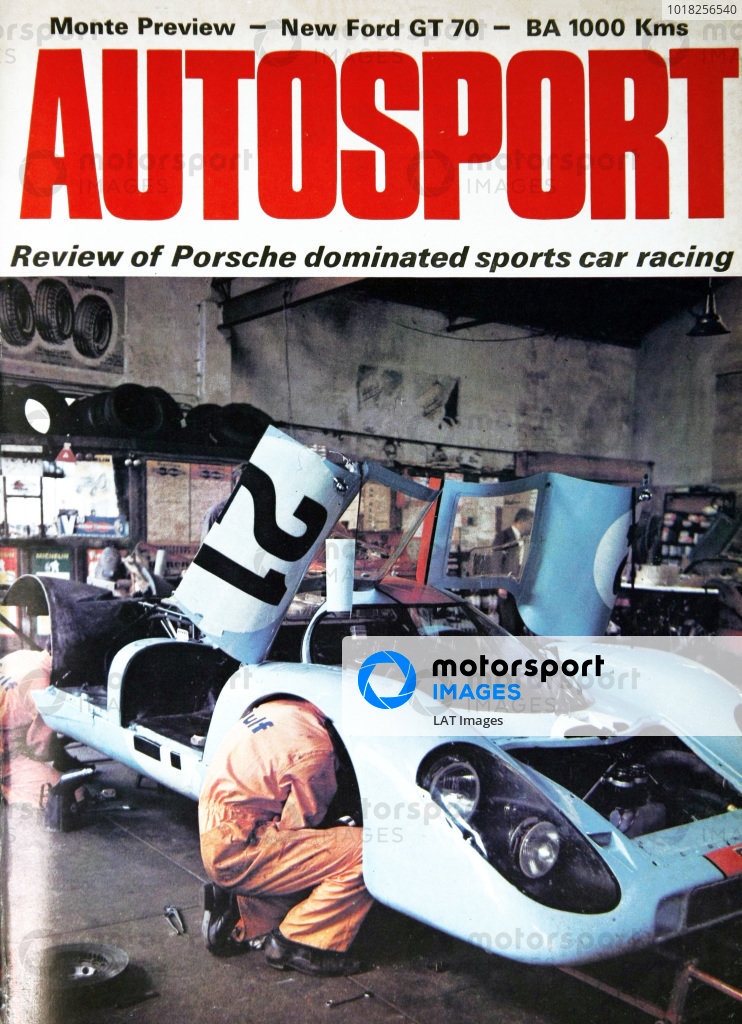 Cover of Autosport magazine, 21st January 1971