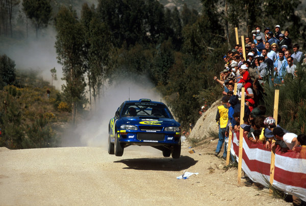 2000 Rally of Portugal16th - 18th March 2000Rally winner, Richard Burns (Subaru) in action. Burns is now the first Englishman to lead the World Rally Championship.World - McKlein/LATemail: digital@latphoto.co uk