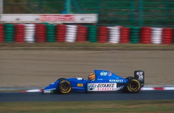 1993 Japanese Grand Prix.Suzuka, Japan.22-24 October 1993.Mark Blundell (Ligier JS39 Renault) 7th position.Ref-93 JAP 04.World Copyright - LAT Photographic