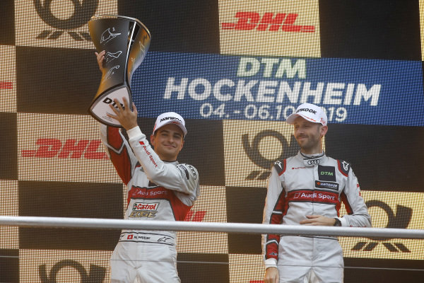 Champion ship Podium: second place Nico Müller, Audi Sport Team Abt Sportsline.