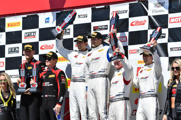 Pirelli World Challenge Victoria Day SpeedFest Weekend Canadian Tire Motorsport Park, Mosport, ON CAN Saturday 20 May 2017 Patrick Long/Joerg Bergmeister, Jordan Taylor/ Michael Cooper ,Johnny O'Connell/Ricky Taylor World Copyright: Richard Dole/LAT Images ref: Digital Image RD_CTMP_PWC17099