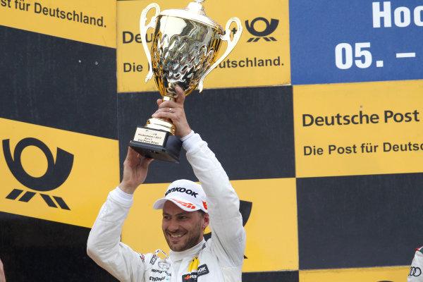 2017 DTM Round 1 Hockenheim, Germany. Sunday 7 May 2017. Podium: second place Gary Paffett Mercedes-AMG Team HWA, Mercedes-AMG C63 DTM World Copyright: Alexander Trienitz/LAT Images ref: Digital Image 2017-DTM-R1-HH-AT1-3722