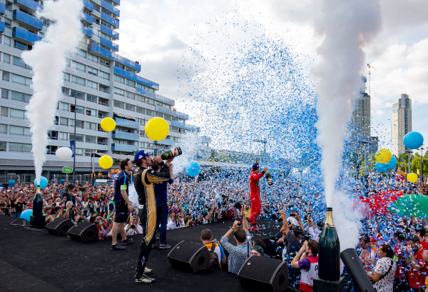 2016/2017 FIA Formula E Championship. Buenos Aires ePrix, Buenos Aires, Argentina. Saturday 18 February 2017. Jean-Eric Vergne (FRA), Techeetah, Spark-Renault, Renault Z.E 16.  Photo: Zak Mauger/LAT/Formula E ref: Digital Image _L0U9088