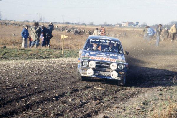 1978 World Rally Championship.Lombard RAC Rally, Great Britain. 19-23 November 1978.Hannu Mikkola/Arne Hertz (Ford Escort RS), 1st position.World Copyright: LAT PhotographicRef: 35mm transparency 78RALLY16