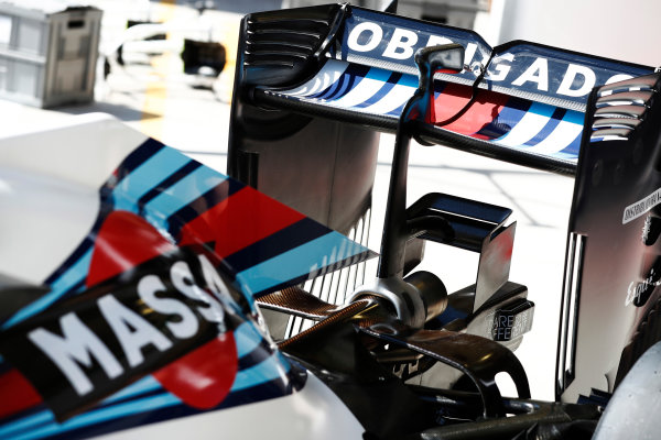Interlagos, Sao Paulo, Brazil. Thursday 10 November 2016. A special livery for Felipe Massa, Williams Martini Racing's, final home grand prix. World Copyright: Glenn Dunbar/LAT Photographic ref: Digital Image _X4I1886