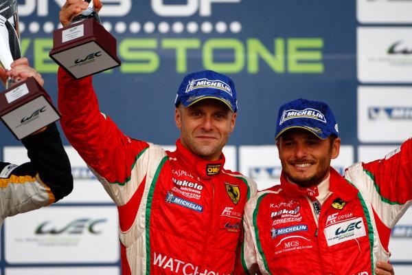 Silverstone, England. 24th - 26th August 2012. Rd 4.Giancarlo Fisichella (ITA)/Gianmaria Bruni (ITA) AF Corse Ferrari F458 Italia.World Copyright: Ebrey/LAT Photographic.